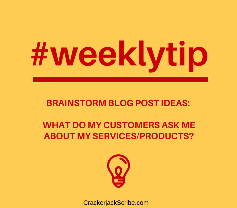 Brainstorming blog ideas