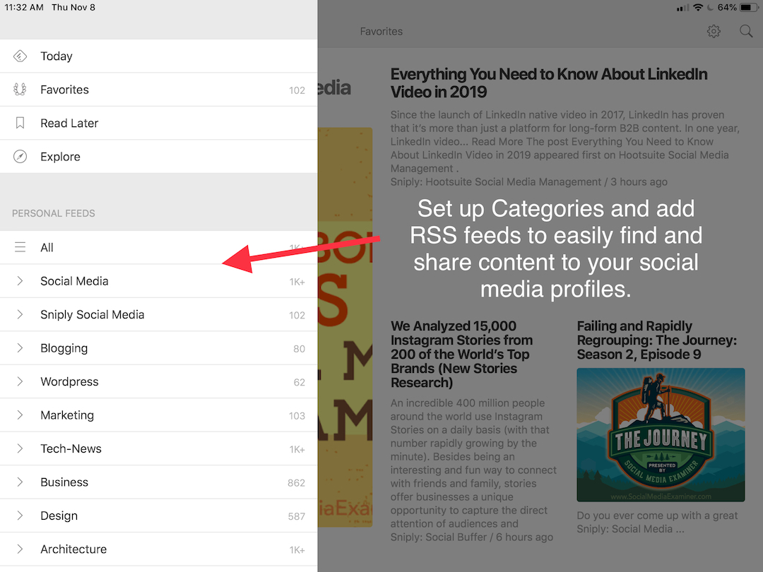 Feedly content curation1