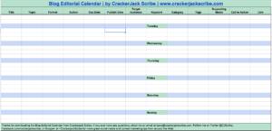blog editorial calendar via Crackerjack Scribe