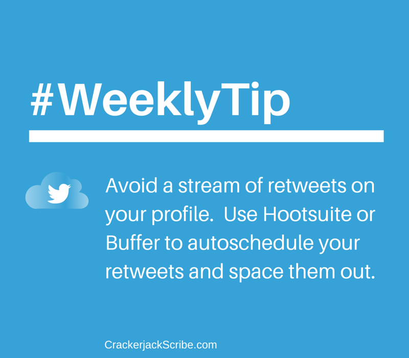 WeeklyTip: Twitter Retweeting