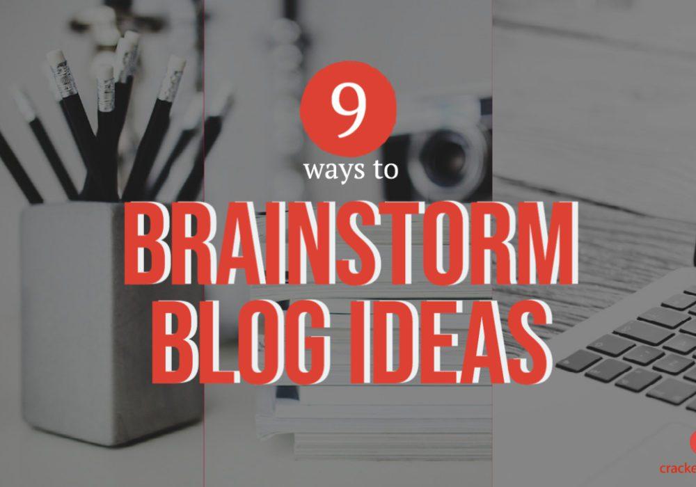 Brainstorm blog ideas (1)