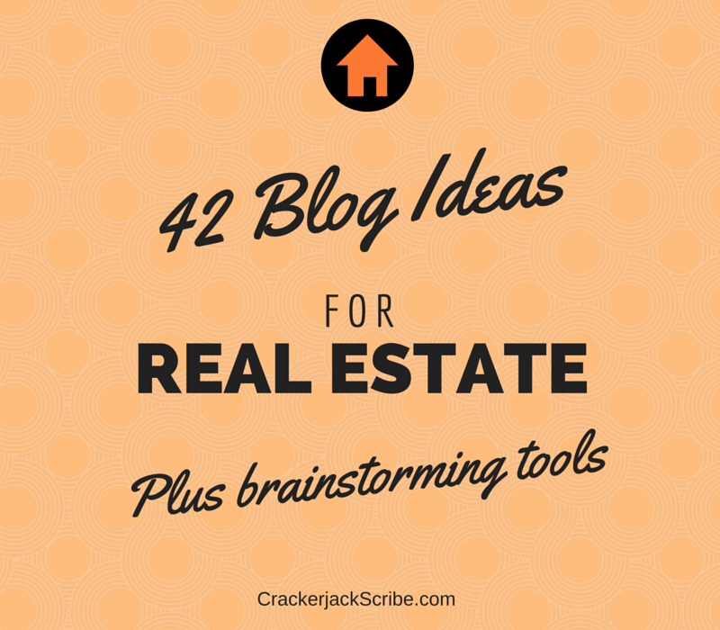 Real estate blog ideas