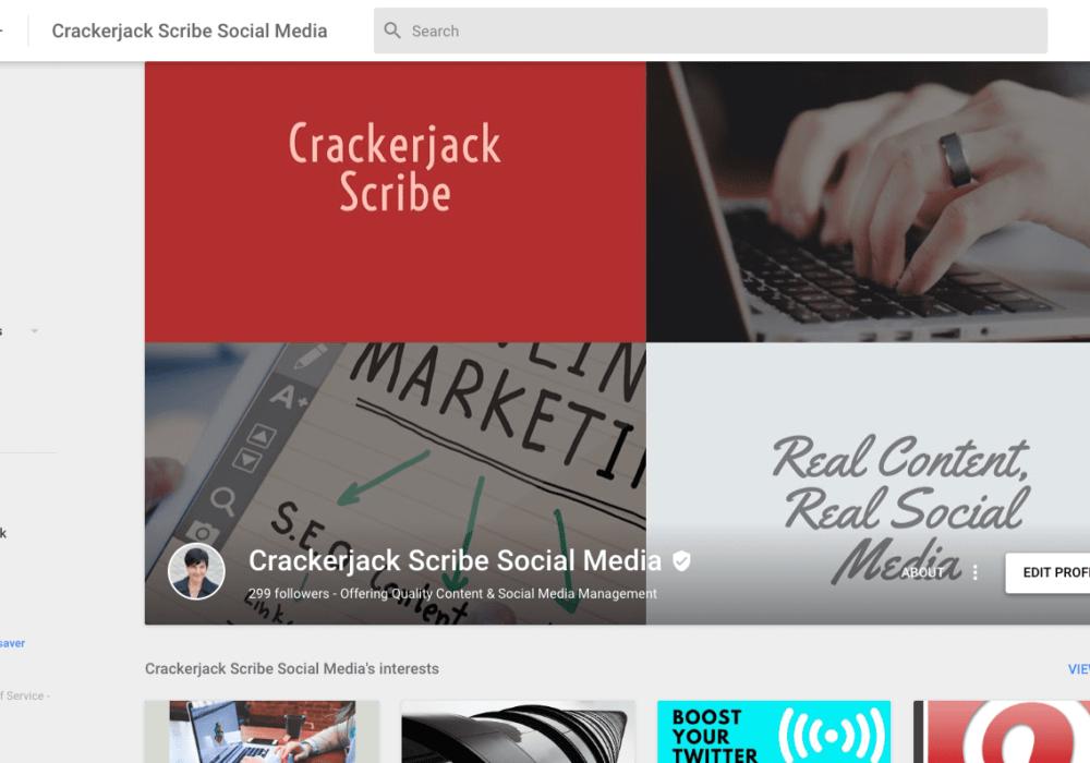 Crackerjack Scribe Social Media Google