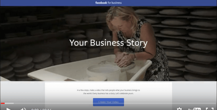 Facebook Video creation tool tells Your Business Story
