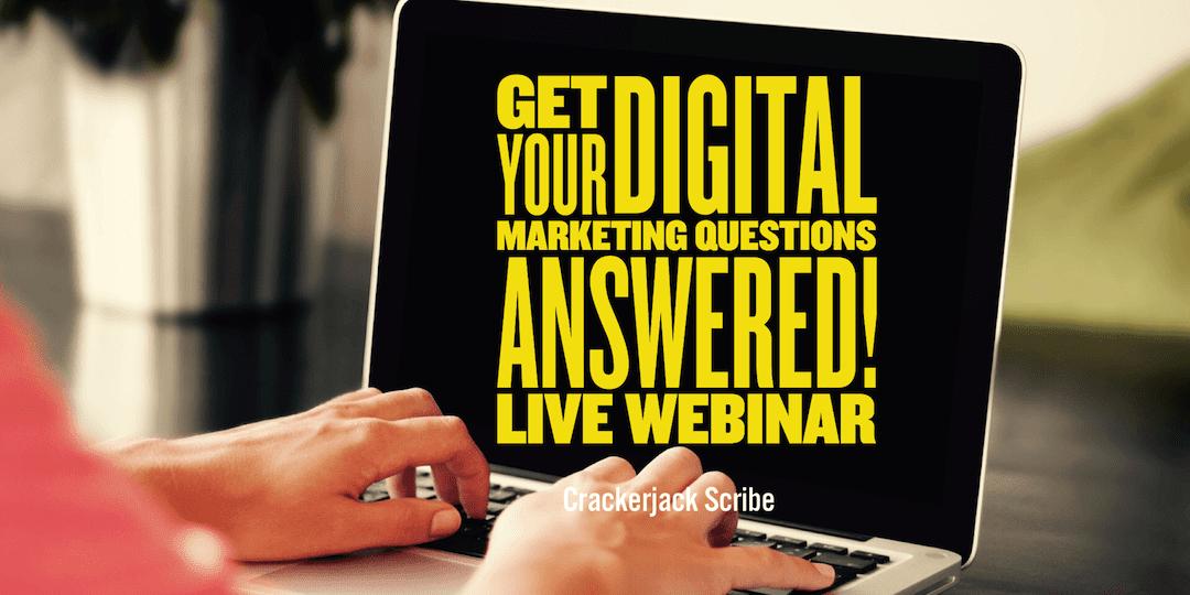 top digital marketing questions webinar