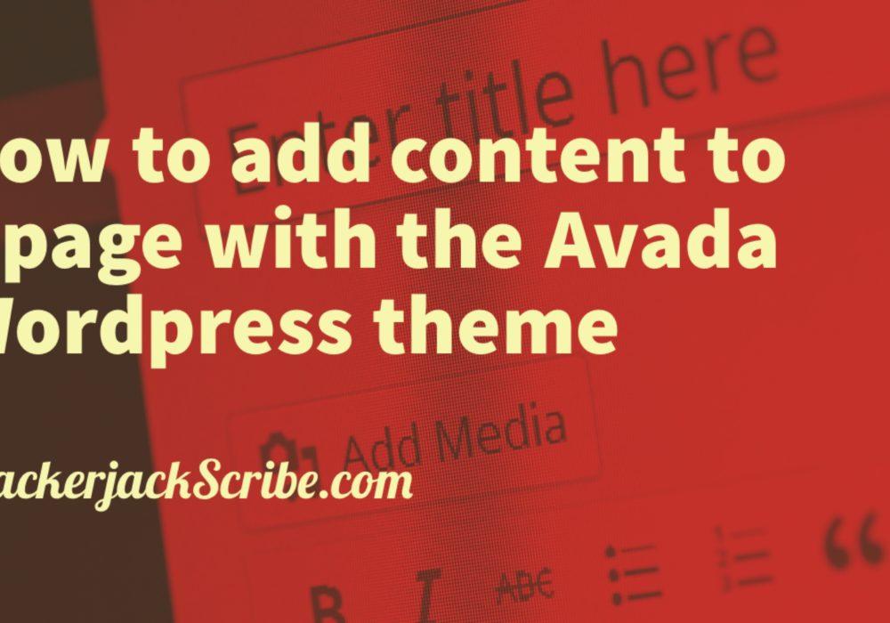 Wordpress theme Avada tutorial