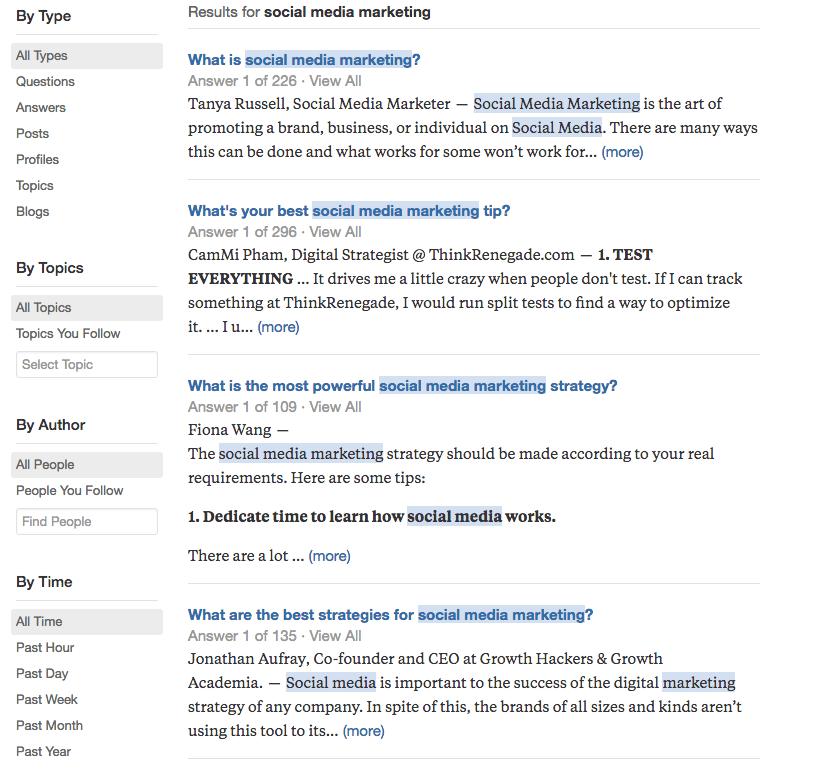 Quora Search
