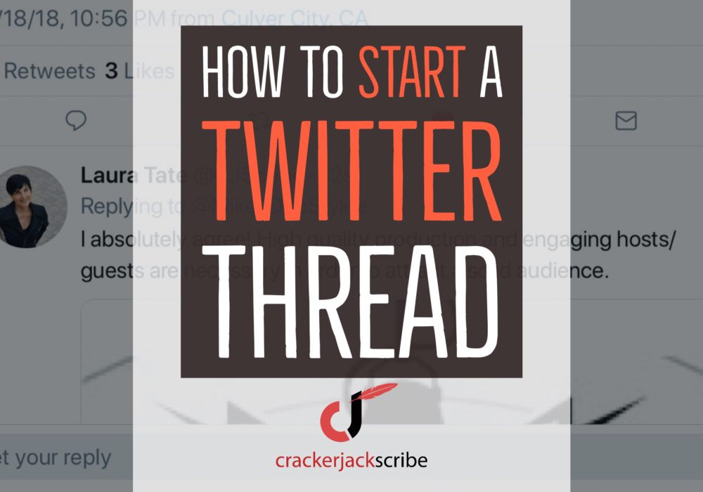 Twitter Thread: How-To start one