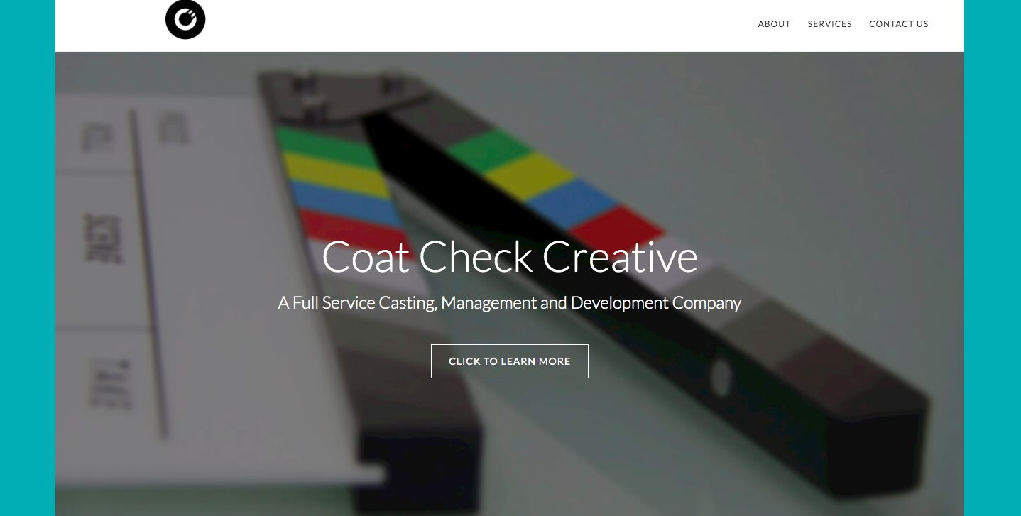 Coat Check Creative Website Design